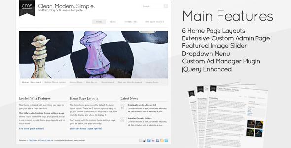 Clean Modern Simple - CMS WordPress