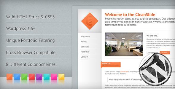 CleanSlide: A Premium Clean WordPress Theme