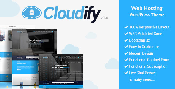 Cloudify - Web Hosting WordPress Theme