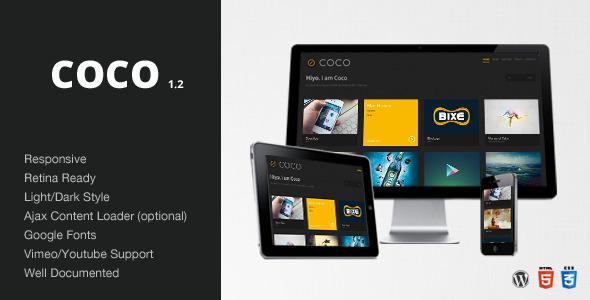 Coco - Clean & Minimal Portfolio/Blog Theme - WP