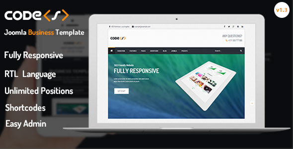 Codes - Responsive Joomla Business Template