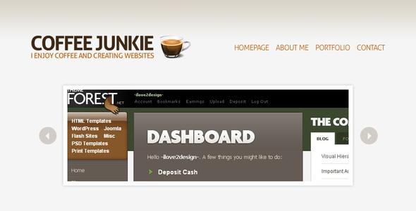 Coffee Junkie WordPress Version
