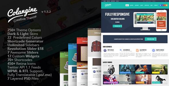 Colangine - Creative Flat WordPress Theme + RTL