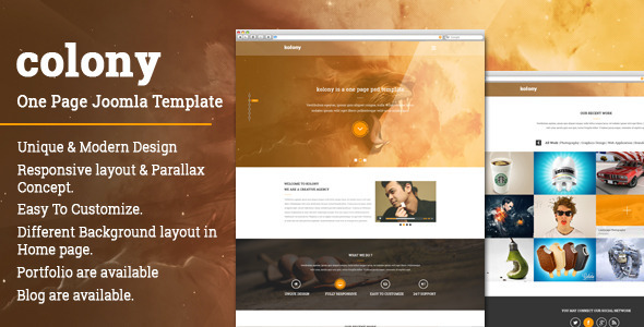 Colony | One page Multipurpose JOOMLA Template