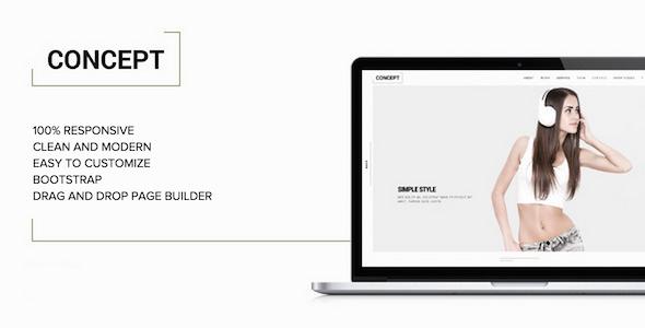 Concept - Minimal WordPress Portfolio Theme