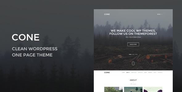 Cone - Responsive Onepage WordPress Theme