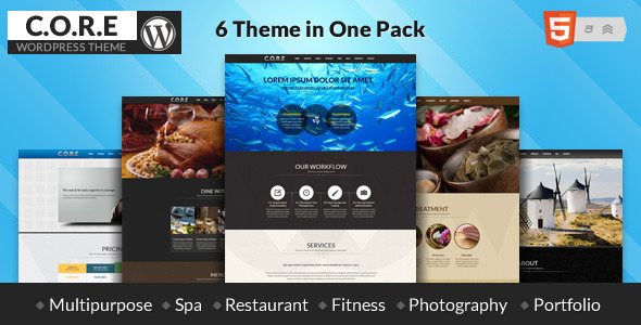 Core - Multipurpose One Page WordPress Theme