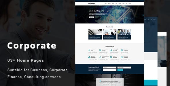 Corporate - Consulting Services Joomla Template