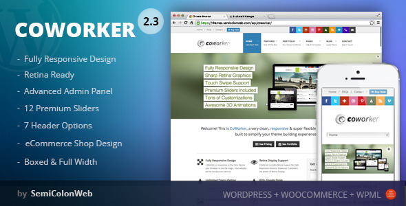 CoWorker | Responsive Retina Multi-Purpose Theme