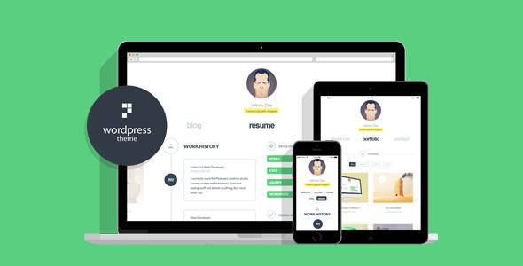 cvCard WP - Responsive WordPress Resume Theme
