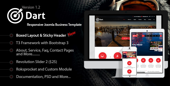 Dart - Responsive Corporate Joomla Business Template