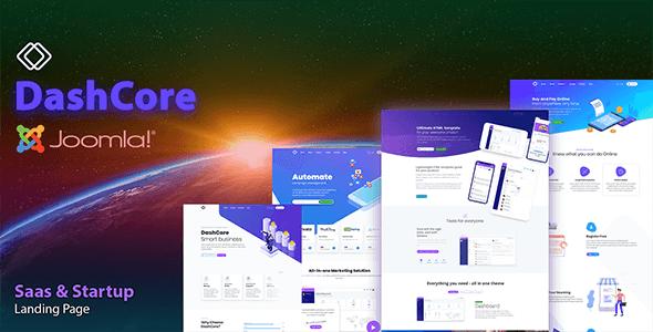 DashCore - SaaS, Startup & Software Joomla Template
