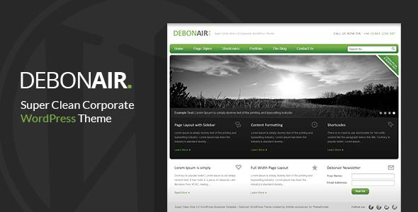 Debonair - Corporate WordPress Theme