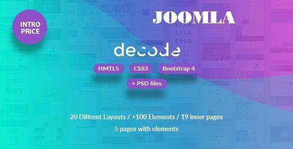 Decode - Premium Business Joomla Template