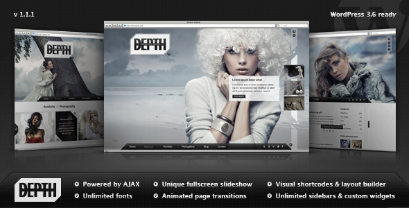 Depth — Full-Screen AJAX Portfolio WordPress Theme
