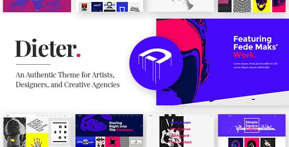 Dieter - Authentic Artist & Creative Design Agency Theme