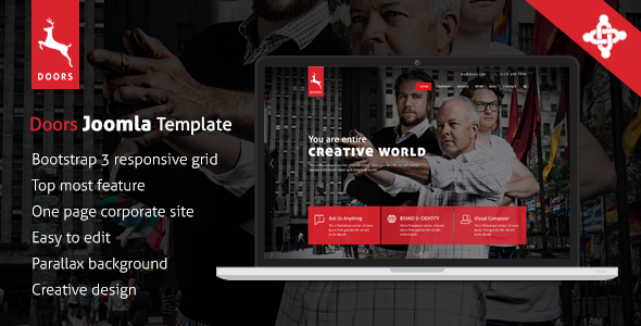 Doors Onepage MultiPurpose Joomla Template