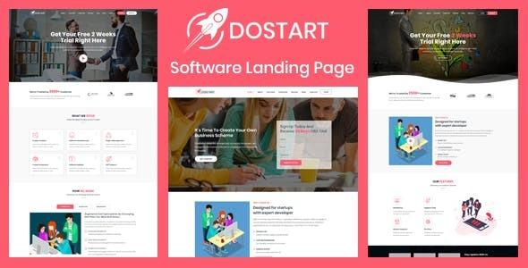 Dostart - Startup Landing Page WordPress Theme