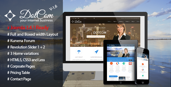 DotCom - Responsive Joomla Corporate Template
