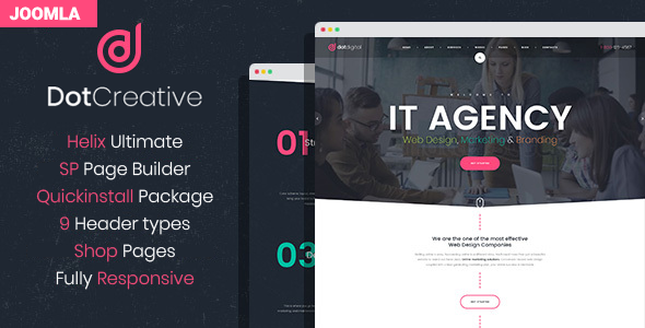 DotCreative – Web Design Agency Joomla Template