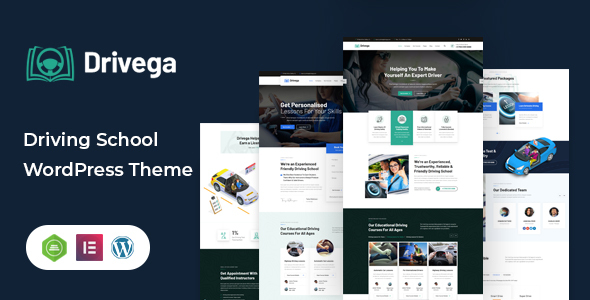 Drivega - Driving School WordPress Theme