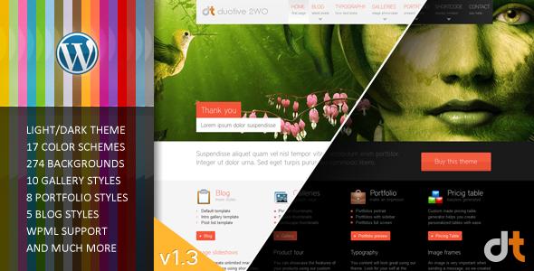 Duotive 2WO - Wordpress Theme