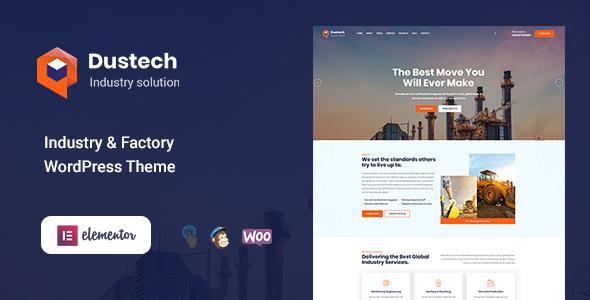 Dustech - Industry & Factory WordPress Theme