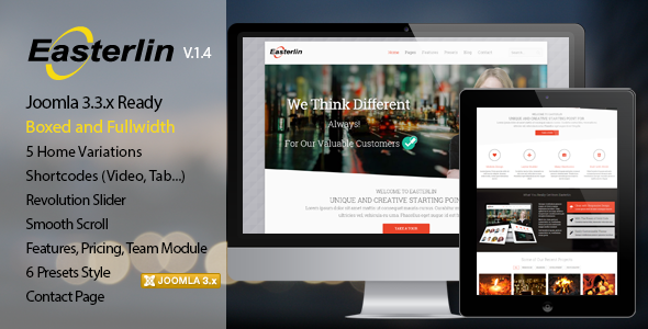 Easterlin - Responsive Joomla Business Template