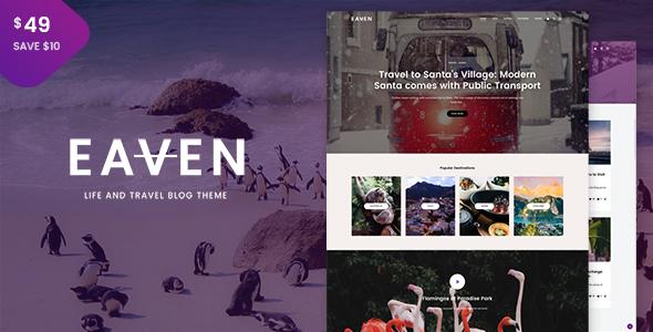 Eaven - Life and Travel Blog Theme