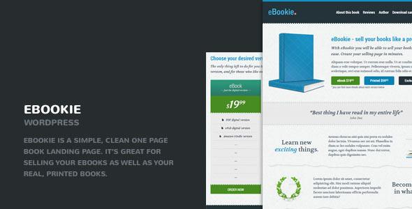 eBookie - One Page WordPress Theme with Blog