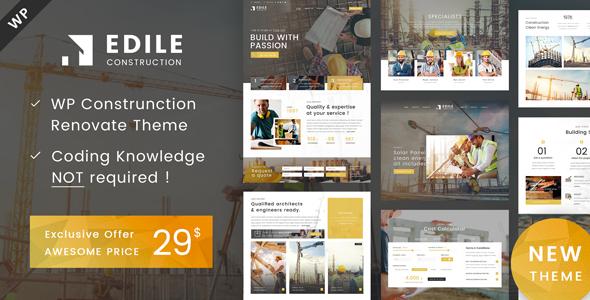 Edile - Construction WordPress Theme