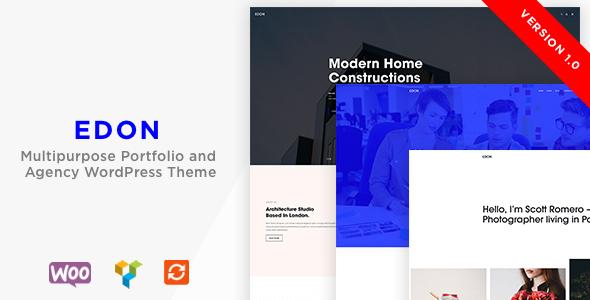 Edon - Multipurpose Portfolio & Agency  WordPress Theme