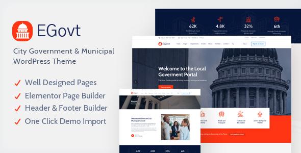 EGovt - City Government WordPress Theme