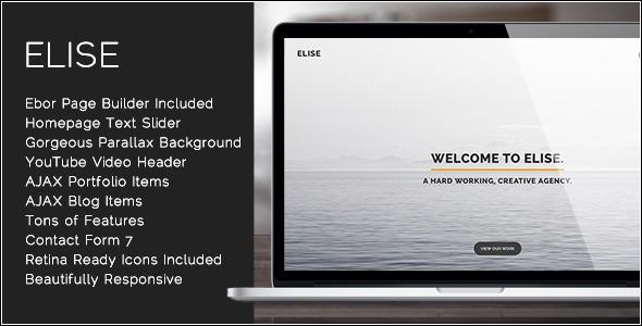 Elise - AJAX Powered One Page WordPress Theme