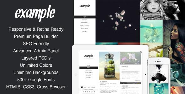 Example - Responsive & Retina Portfolio WP Theme