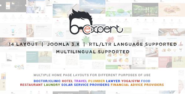 Expert Multipurpose Joomla responsive template