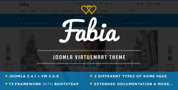 Fabia - Responsive Multipurpose VirtueMart 3 Theme