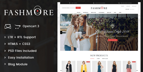 FashMore - Unique Fashion OpenCart Responsive Theme