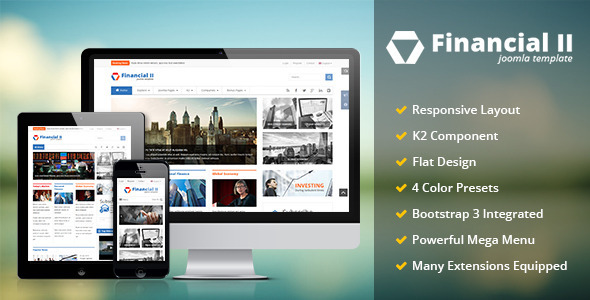 Financial II - Responsive Business Joomla Theme