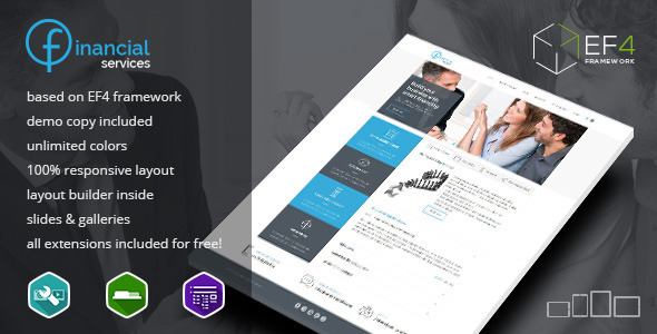 Financial Services - multipurpose Joomla template