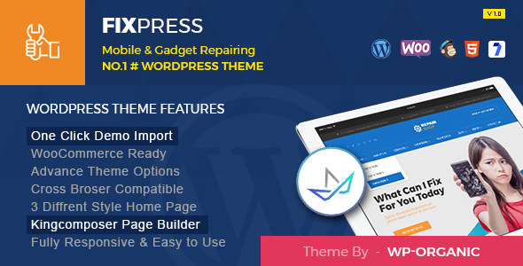 FixPress - Mobile, Cell Phone and Computer Repair WordPress Theme