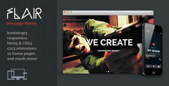 Flair - One Page Responsive WordPress Theme
