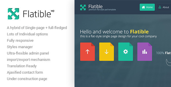 Flatible - Single Page WordPress Theme