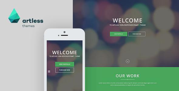 Flato - Parallax One Page WordPress Theme