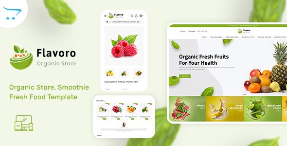 Flavoro - Organic Food OpenCart Store