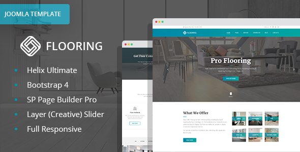 Flooring - Floor Repair / Refinish Joomla Template With Page Builder