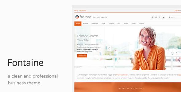 Fontaine - Responsive Business Joomla Template