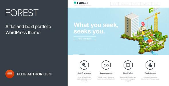 Forest - A flat and Bold Portfolio WordPress Theme