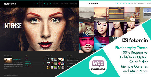 FotoMin - Responsive Photography WordPress Theme