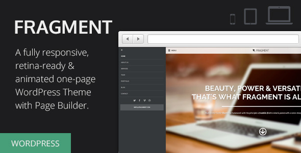 Fragment - Responsive One Page WordPress Theme